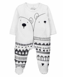 Pelele terciopelo osos polares bebé de Boboli