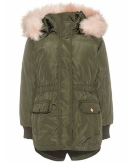 Parka militar pelo Mariska Mini de Name it
