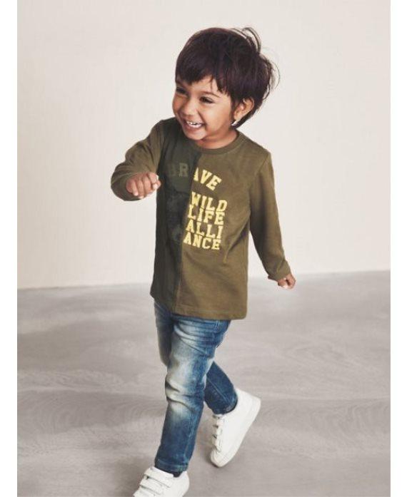 Camiseta bicolor Topi Mini de Name it