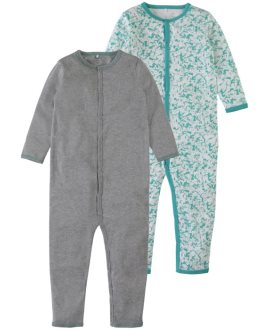 Pack pijamas bicolor turquesa Mini de Name it