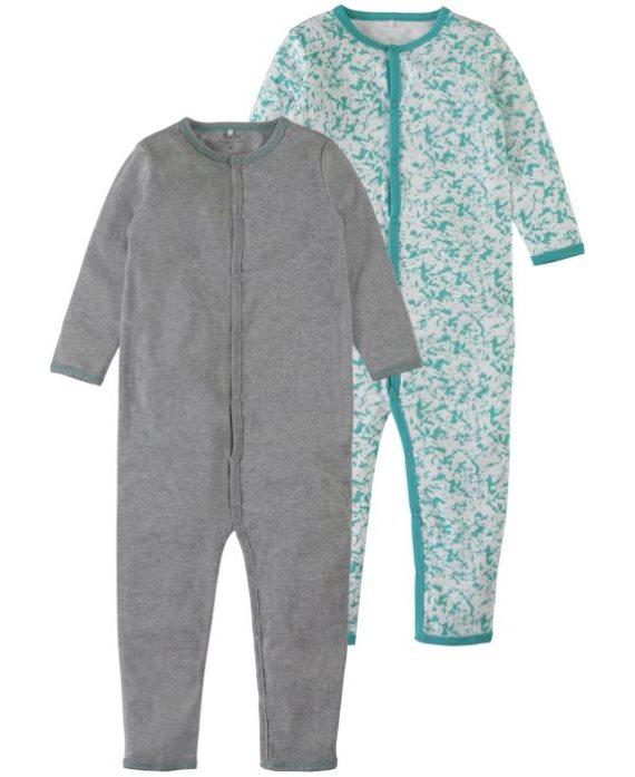 Pack pijamas bicolor turquesa Mini de Name it
