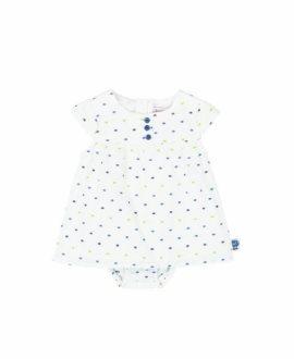 Vestido y braguita topos bebé de Boboli