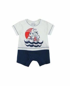 Pelele corto piratas bebé niño de Boboli