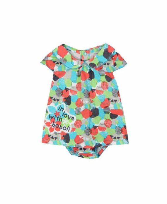 Vestido con braguita estampado bebé de Boboli