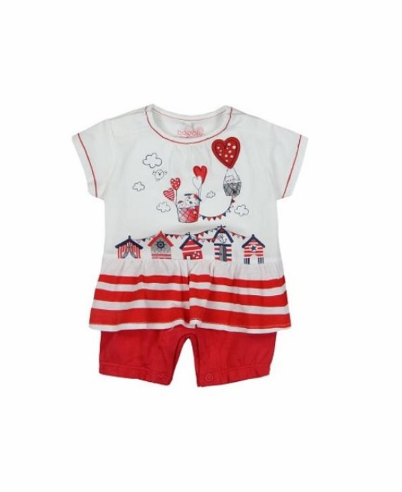 Pelele corto globos corazón bebé de Boboli