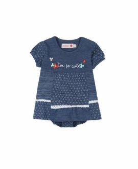 Vestido bebé braguita tejano de Boboli