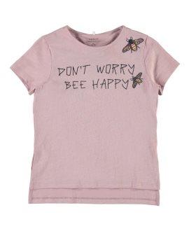 Camiseta insectos Homora Kids de Name ti - Dawn Pink