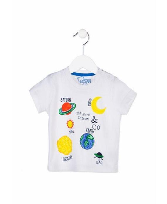 Camiseta espacio bebé Losan