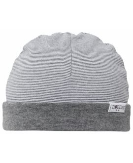 Gorro reversible listado Erin bebé de Noppies - Dark Grey Melange