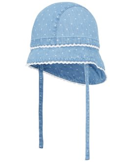 Gorro tejano ganchillo Fablinabebé de Name It - Light Blue Denim