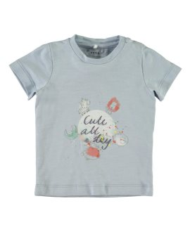 Camiseta animales selva Gamanbebé de Name It - Cashmere Blue