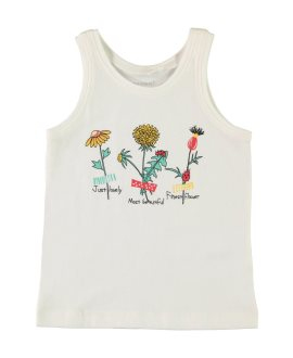Camiseta flores/fruta Veentirantes de Name It - Bright White