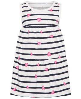 Vestido tirantes Vigga estampado de Name It - Bright White/Stripes Comb. 4