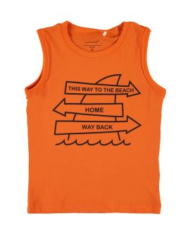 Camiseta oso/flechas Victortirantes de Name It - Shocking Orange