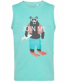 Camiseta oso/flechas Victortirantes de Name It - Pool Blue