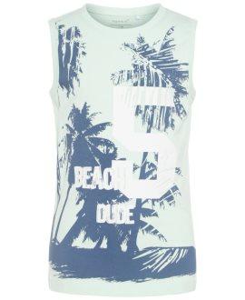 Camiseta tirantes Victor piña/palmeras