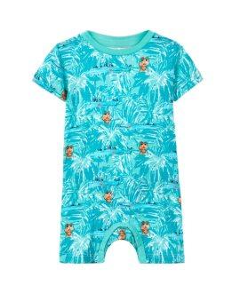 Pelele corto cocodrilos DESKO bebé de Name It - Pool Blue